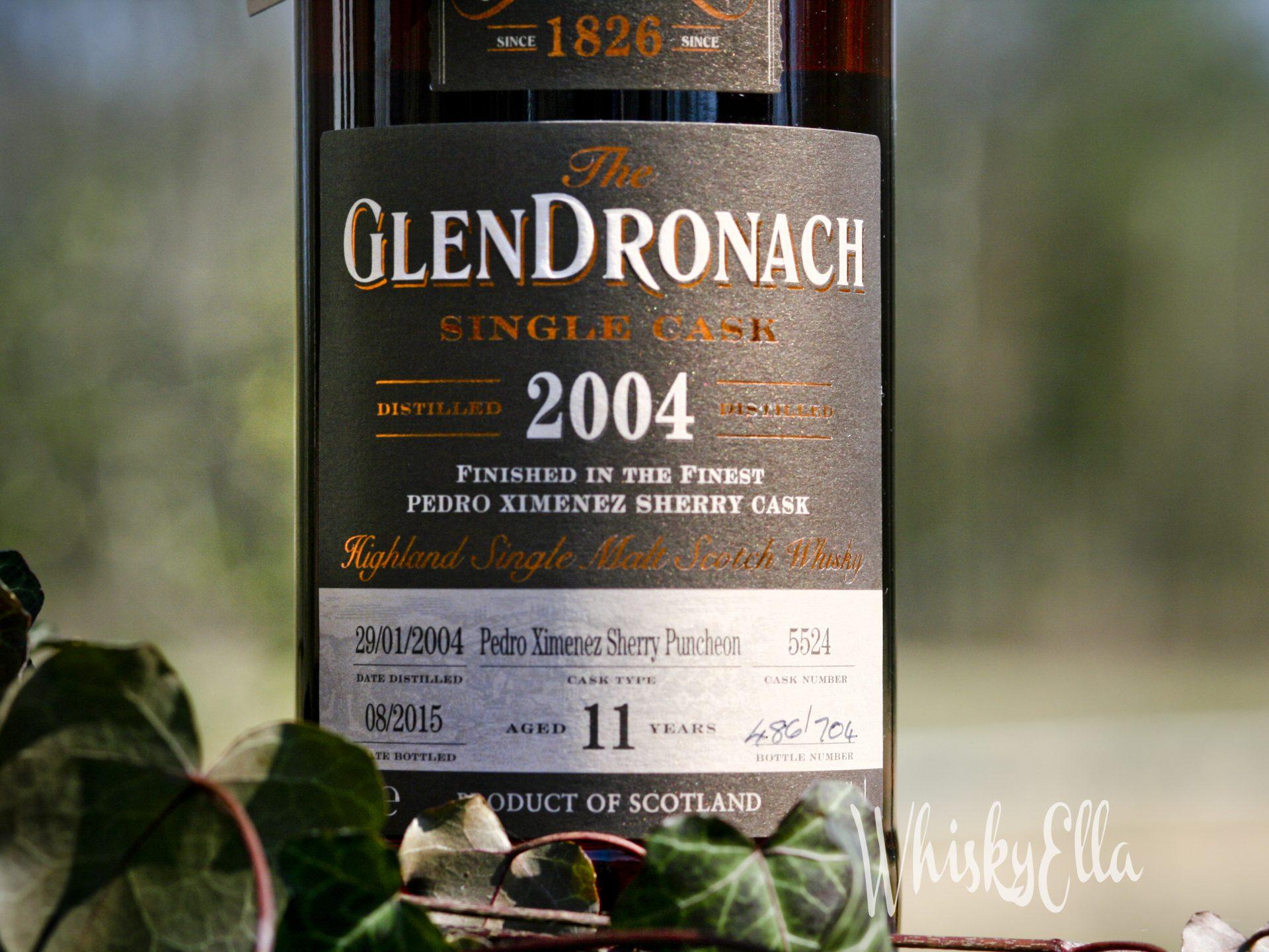 Nasza recenzja GlenDronach Single Cask 2004 11 yo Pedro Ximenez Sherry Puncheon, cask numer 5524 #58