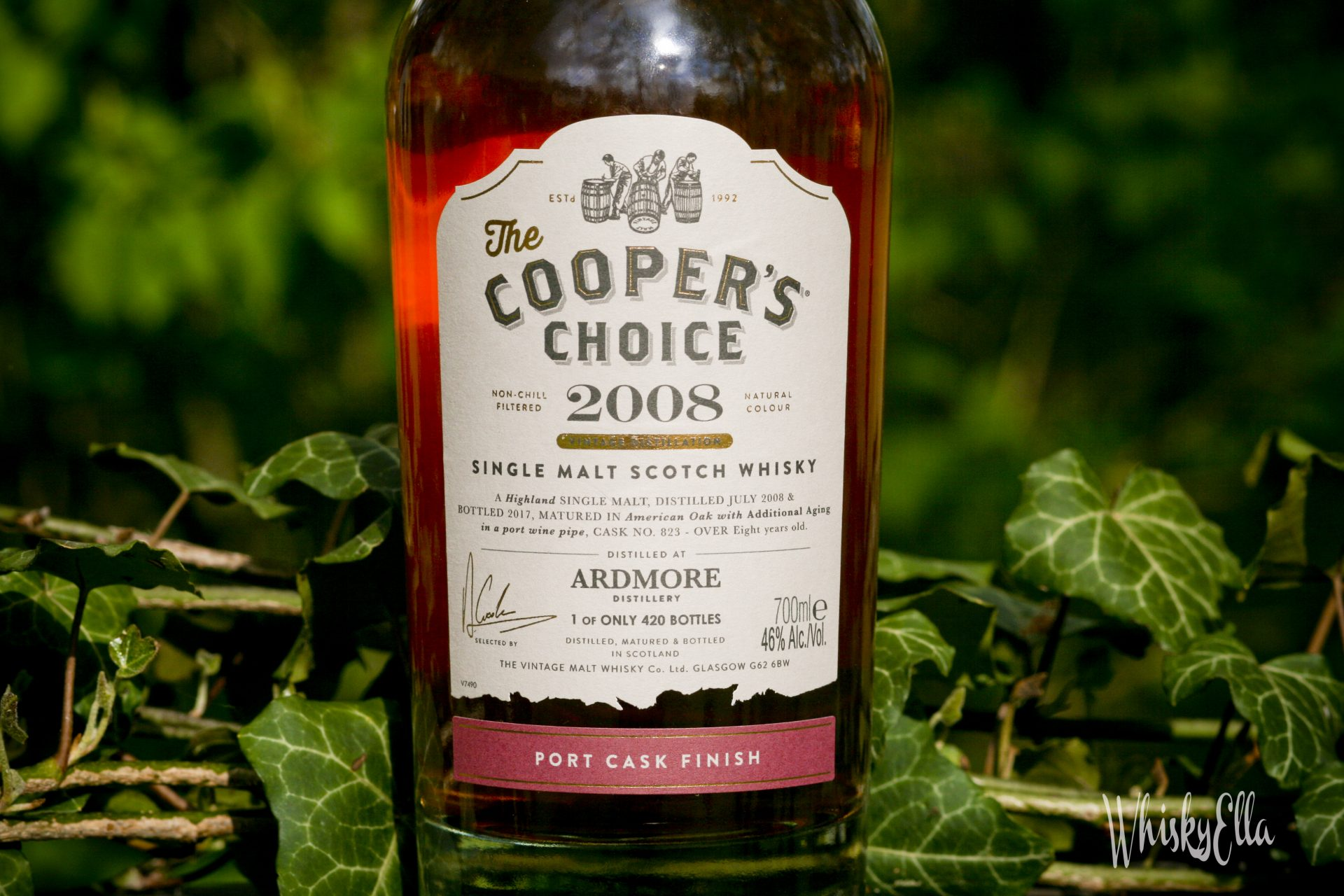 Nasza recenzja Ardmore 2008 Port Cask Finish The Cooper's Choice #69