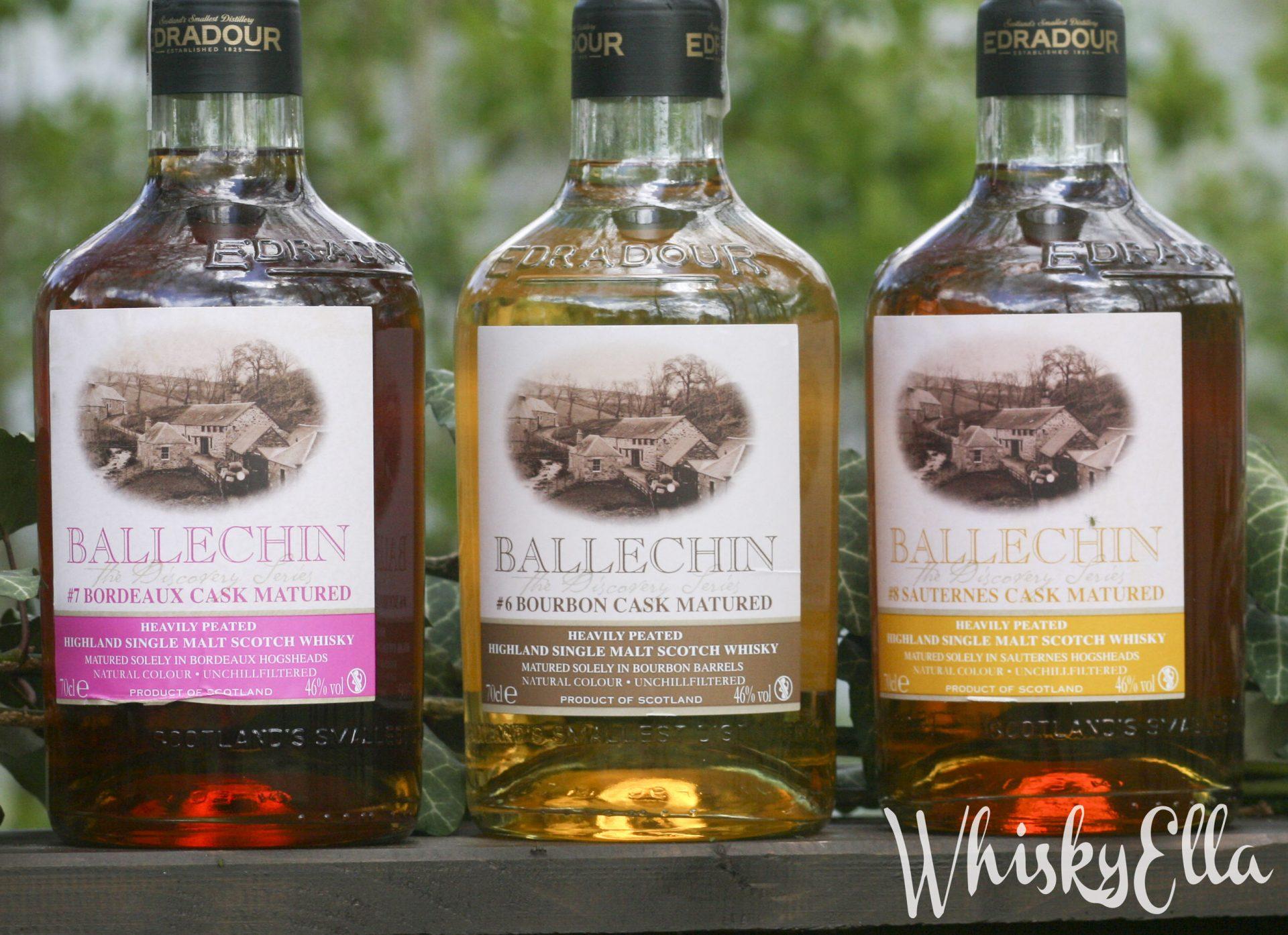 Edradour Ballechin #6 Bourbon Cask, Ballechin #7 Bordeaux Cask i Ballechin #8 Sauternes Cask # 95