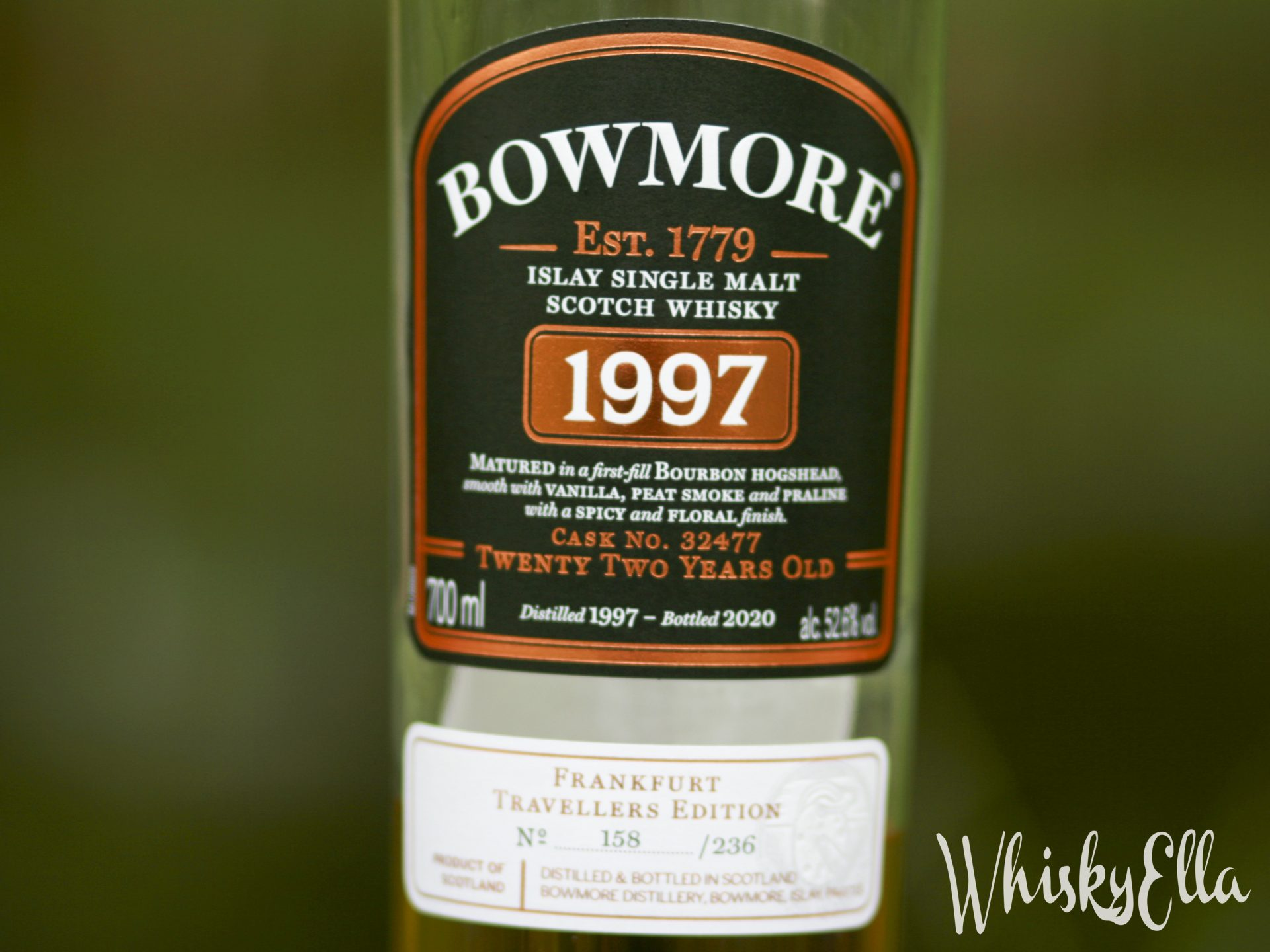 Nasza recenzja Bowmore 1997 22yo Frankfurt Travellers Edition #109